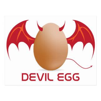 devil egg postcard
