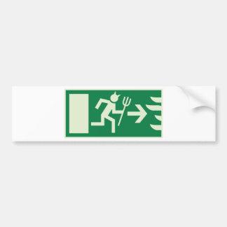 devil emergency exit car bumper sticker