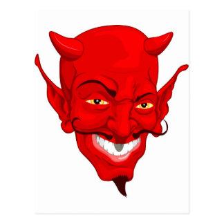 Devil face post card