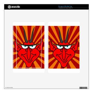 Devil Face Radiant Kindle Fire Skins