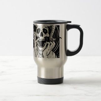 devil face travel mug