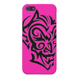 Devil Face Tribal Tattoo Speck iPhone 4 Case Pink