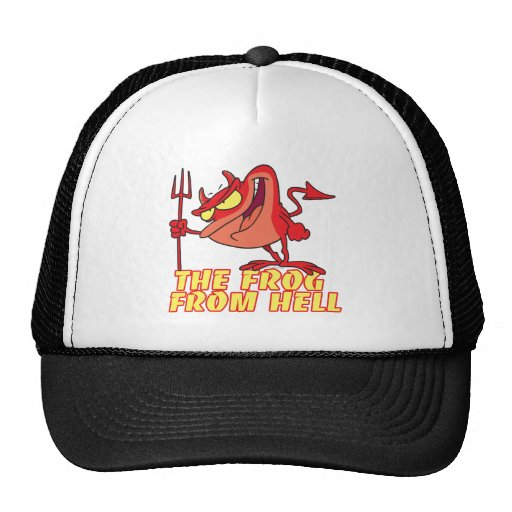 devil frog frog from hell cartoon mesh hats