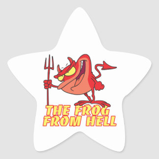 devil frog frog from hell cartoon stickers