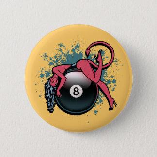Devil Girl 8-Ball Button