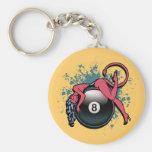 Devil Girl 8-Ball Keychains