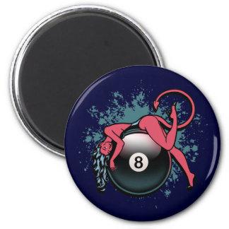 Devil Girl 8-Ball Fridge Magnet