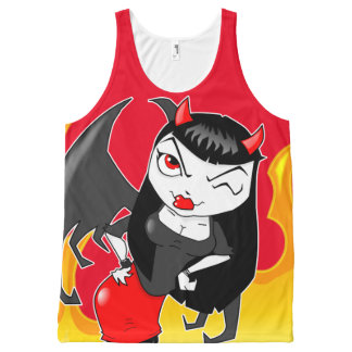 Devil Girl All-Over Printed Unisex Tank All-Over Print Tank Top
