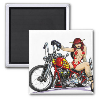 Devil Girl Biker Magnets