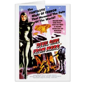 """""""Devil Girl from Mars"""" Card"""
