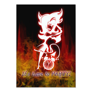 Devil Girl Goth Fantasy Sweet 16 Birthday 5x7 Paper Invitation Card