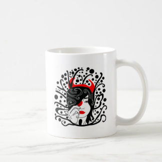 devil girl coffee mug