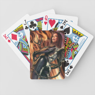 Devil Girl Playing Cards