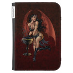 Devil Girl Witch's Cauldron Smoking Gothic Art Kindle 3 Covers