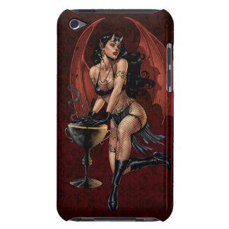 Devil Girl Witch's Cauldron Smoking Gothic Art iPod Touch Case