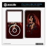 Devil Girl Witch's Cauldron Smoking Gothic Art iPod Decals