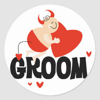 Devil Groom T-shirts and Gifts Classic Round Sticker
