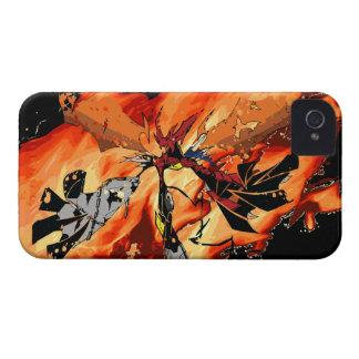 DEVIL GUY IN FLAMES iPhone 4 CASE
