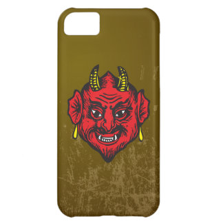 Devil Head (bright red & yellow) iPhone 5C Cases