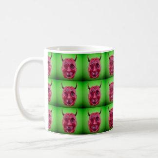 Devil Head Tiled Mug