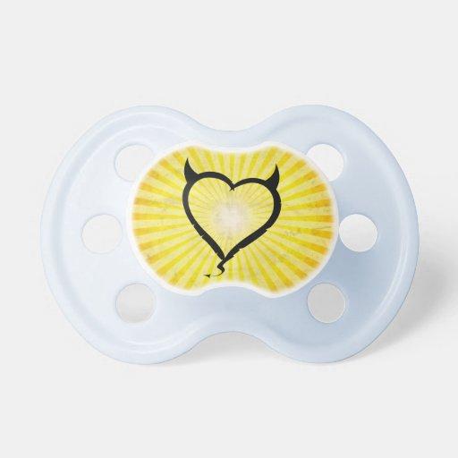 Devil Heart Baby Pacifier