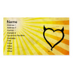 Devil Heart Double-Sided Standard Business Cards (Pack Of 100)