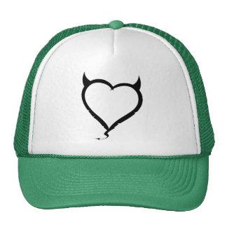 Devil Heart; green Trucker Hat