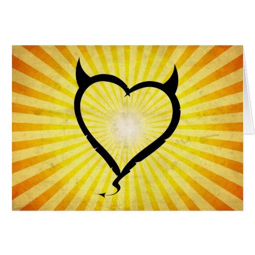 Devil Heart Greeting Card