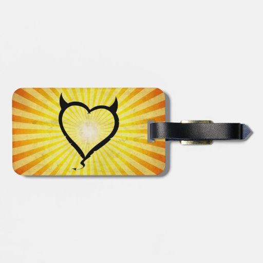 Devil Heart Tag For Luggage