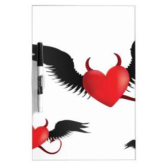 Devil hearts dry erase board