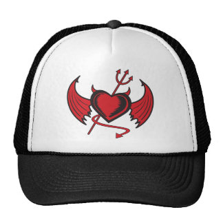 Devil Hearts Mesh Hat