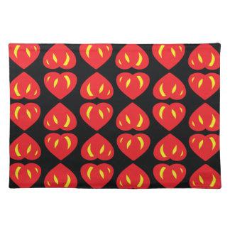 Devil hearts place mats