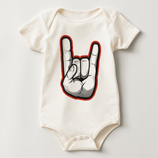 Devil Horns Hand Gesture Baby Bodysuit