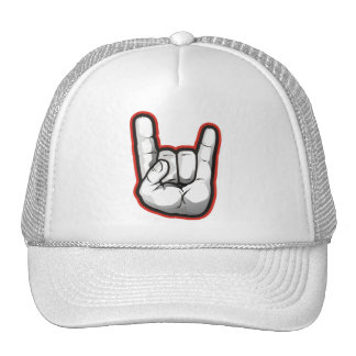 Devil Horns Hand Gesture Trucker Hat