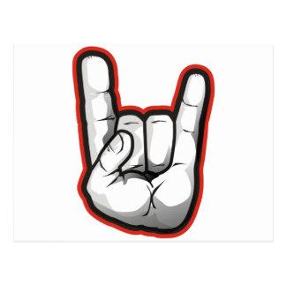 Devil Horns Hand Gesture Postcard
