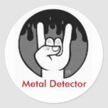 devil horns, Metal Detector Classic Round Sticker