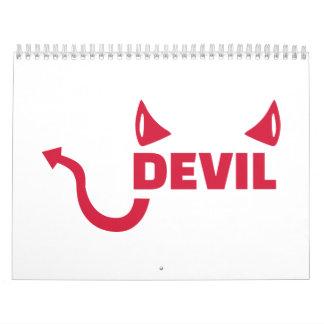 Devil horns tail calendar