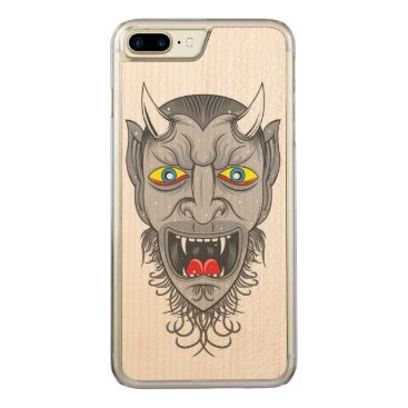 Halloween Themed Devil Illustration Carved iPhone 7 Plus Case