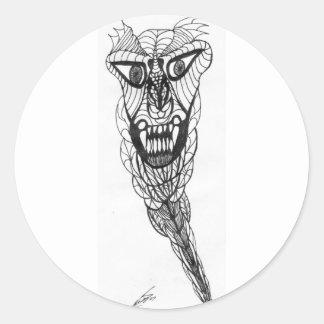 Devil In A Box Classic Round Sticker