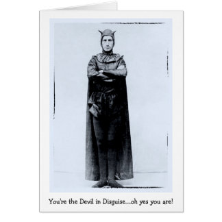 Devil In Disguise - Notecard