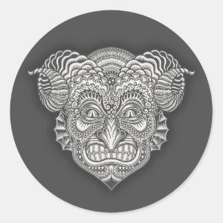 Devil in the Details Classic Round Sticker
