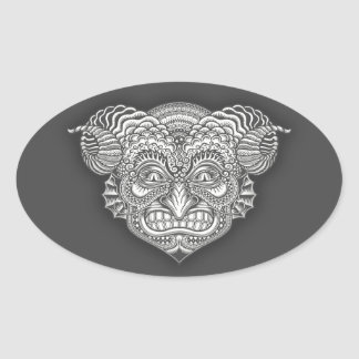 Devil in the Details Oval Sticker