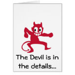 Devil is in the details. cards