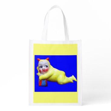Halloween Themed devil-ish little imp print reusable grocery bag