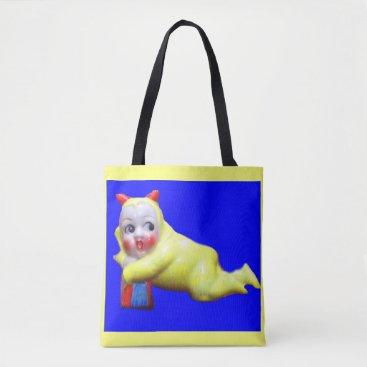 Halloween Themed devil-ish little imp print tote bag
