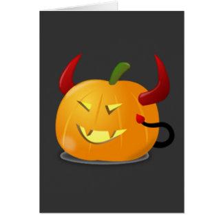 Devil Jack-O-Lantern Card