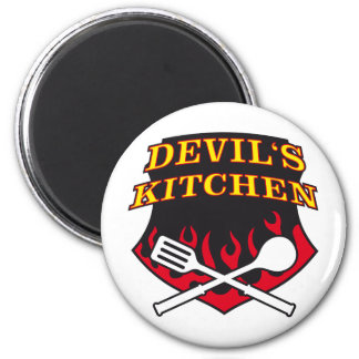 Devil kitchen witch kitchen magnet