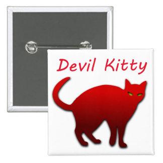 Devil Kitty Pinback Button