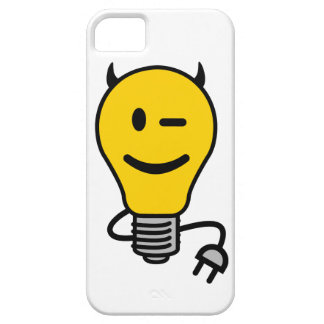 Devil Lightbulb with plug tail iPhone SE/5/5s Case