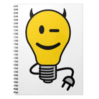 Devil Lightbulb with plug tail Journals